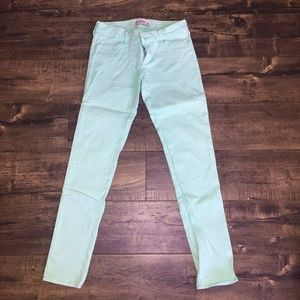 ✨EUC✨Abercrombie Girls Mint Skinny Pants